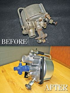 What does impeccable restoration look like? Here are before and after photos of a brake booster from one of our classics Mercedes, done by our technicians at Black Forest LLC.