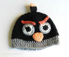 Free Crochet Pattern: Black Angry Birds Hat