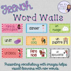 Get some fun and effective ideas for teaching French vocabulary here! Find engaging ways to introduce, practice, and provide support for your students. Learning Cards, Ways Of Learning, High School French, French Class, Learn To Speak French, French Flashcards, Reading For Beginners, R Words, Core French
