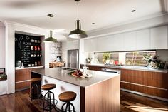 Love this functional kitchen - not only does it have a coffee station, round the corner it also has an e-nook and a walk-in pantry! #dalealcockhomes #kitchen #home