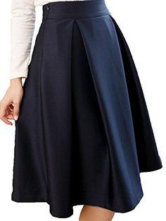 Vijiv Women s Dress Pleated Skirts High Waist Umbrella Skirt at Amazon  Women s Clothing store  a72c03e28
