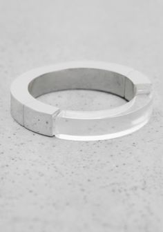 & OTHER STORIES A ring featuring a luscious combination of brass and transparent plastic accents.