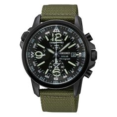 SEIKO SOLAR GENTS CHRONOGRAPH WATCH