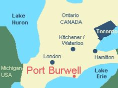 Location of Port Burwell, Ontario