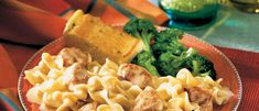 Country-style home cooking doesn't get any better than this satisfying dish of cooked chicken, Parmesan cheese and hot pasta in a creamy sauce. Creamy Chicken And Noodles, Chicken Noodles, Chicken Pasta, Turkey Recipes, Meat Recipes, Chicken Recipes, Dinner Recipes, Cooking Recipes, Casserole Dishes