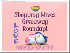 Do you like #Giveaways?  Check this post out to see Shopping Wives Latest GIveaways!  http://shoppingwives.com/giveaway-round-up-now-until-53013/ #enter #free #contest #win