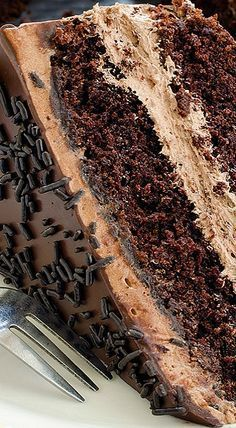 The BEST Chocolate Cake Chocolate Cake Recipe If you wish to make a homemade chocolate cake from scr Best Chocolate Cake, Homemade Chocolate, Chocolate Desserts, Chocolate Lovers, Chocolate Chocolate, Chocolate Mousse Cake, Homemade Snickers, Chocolate Frosting, Food Cakes
