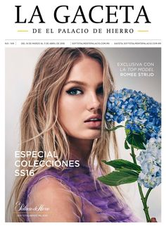 Romme Strijd for El Palacio de Hierro's spring-summer 2016 La Gaceta magazine cover