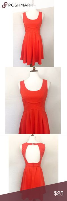 Altar'd State 🌼 Open Back Dress Altar'd State orange / red skater dress. Open back detail with snaps. Cinched waist is great for any body type. Altar'd State Dresses