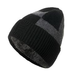 Mens Wool Plus Velvet Knit Hat Vintage Vogue Warm Winter Outdoor Skiing Travel Beanie Cheap - NewChic Vintage Vogue, Knit Beanie Hat, Earmuffs, Winter Colors, Black And Grey, Color Black, Caps Hats, Knitted Hats, Velvet