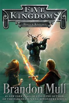 """Rogue Knight (Book 2, Five Kingdoms) by Brandon Mull, """"Cole Randolph never meant to come to The Outskirts, but when his friends were kidnapped on Halloween he had to try and save them. Now he's trapped in a world that lies between wakefulness and dreaming, reality and imagination, life and death."""" AR 4.7"""