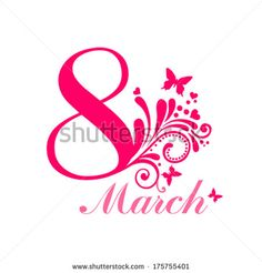 8 March. Greeting Card. Celebration Background With Flowers, Butterfly And Place For Your Text. Vector Illustration - 175755401 : Shutterstock