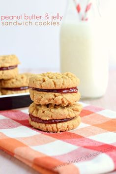 These gorgeous Peanut Butter and Jelly Sandwich Cookies are made with 4 simple ingredients! And they take approximately 4 seconds to devour!