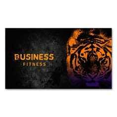 Fitness Training Cool Tiger Professional Double-Sided Standard Business Cards (Pack Of 100). This is a fully customizable business card and available on several paper types for your needs. You can upload your own image or use the image as is. Just click this template to get started!
