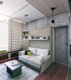 Appartement 4 - Lit pliant (utilisation de miroir pour élargir les petits espaces)
