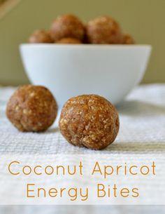 coconut apricot energy bites