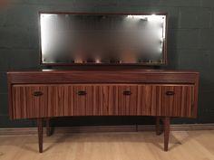 Retro Vintage Mid Century Grange French Mahogany Dressing Table Sideboard