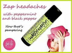 Perfectly Posh products are free of parabens, parafins, sulfates and petroleum.  Rub this Wakey Wakey stick on your forhead, neck, chest when you feel a headache/migraine coming on.  It works! https://www.perfectlyposh.com/poshychick