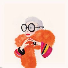 Little Water-Color Portraits of Fashion Designers and Artists Iris Apfel Watercolor Portraits, Art Design, Pop Art, Art Photography, Illustration Art, Creations, Character Design, Artsy, Drawings