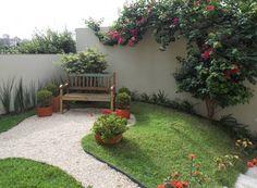 Jardim romântico: Jardins rústicos por Lúcia Vale Interiores