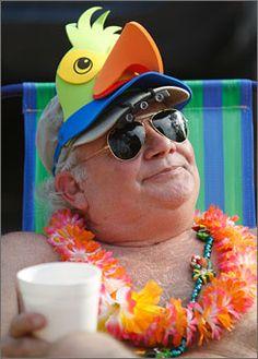 """Jimmy Buffett parrot head - for """"special"""" people."""