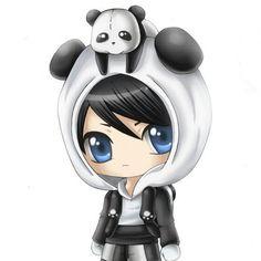 Chibi Panda Boy by Vae-Lyon on DeviantArt Chibi Panda, Chibi Boy, Cute Anime Chibi, Kawaii Chibi, Anime Kawaii, Panda Wallpapers, Cute Cartoon Wallpapers, Kawaii Drawings, Kawaii Anime