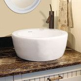 "Found it at Wayfair - DecoLav Classically Redefined 16.5"" Round Ceramic Vessel Sink with Overflow"