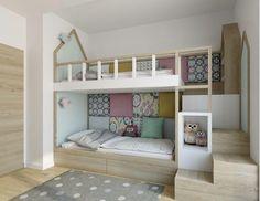 Kinderzimmer: 65 Ideen von Umgebungen mit Fotos dekoriert #schönerwohnen #jugendzimmer #schönerwohnenrosa #gestalten #kids #bedroom #geteiltes
