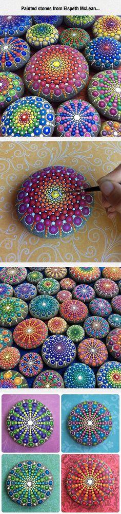 Mandalas auf Steinen malen. Auch schön um den Garten zu Dekorieren.
