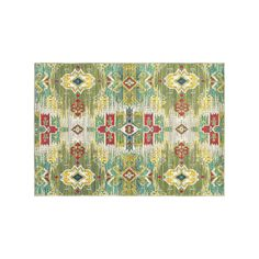StyleHaven Jacquelyn Updated Ikat Traditional Rug, Green
