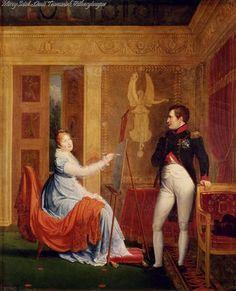 Alexandre Menjaud, Maria Luisa e Napoleone