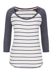 3/4 sleeve striped baseball tee - maurices.com
