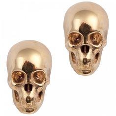 LeiVanKash Skull gold-plated earrings