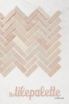 How beautiful is our Powder Herringbone Pink Stone Mosaic in a honed finish? With shades of pink, blush, and white. A gorgeous feature in any room. Buy samples online for your next design project. Home Room Design, Bathroom Interior Design, House Design, Different House Styles, House Tiles, Stone Mosaic, Bathroom Inspiration, Building A House, Pattern Design