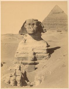 Title of photo: Sphinx Armachis [neg. 232] Photographer: Sébah, J. Pascal Date of photo: 1870 Location of Photo: New York Public Library Digital