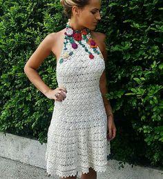 Vanessa Montoro Vanessa Montoro, Crochet For Boys, Knit Crochet, Crochet Clothes, Diy Clothes, Trendy Outfits, Girl Outfits, Heart Dress, Diy Dress