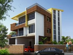 INDEPENDENT DUPLEX AT SEMMENCHERY - Architects and Interior designers in Chennai