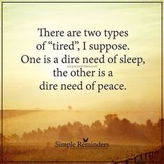 There Are Two Types Of Tired life quotes quotes quote life quote truth wisdom…