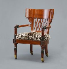 "Jacob Freres, desk armchair ""with rambs"""