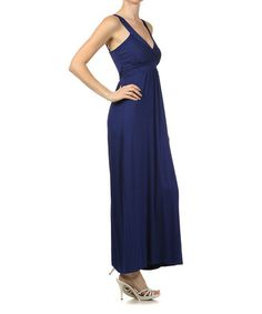 Look what I found on #zulily! Navy Surplice Maxi Dress #zulilyfinds
