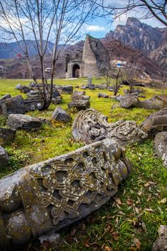 Akhtala Monastery ruins, Lori / Armenia (by CMFerrante). Amazing Places On Earth, Places Around The World, Around The Worlds, Beautiful Ruins, Beautiful World, Beautiful Places, Armenian History, Armenian Culture, Armenia Travel