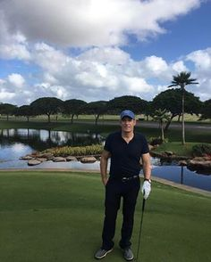 Michael on the course in Hawaii on 14th February, 2017