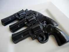 Valentines gift for man - Police Gun Soap -. $6.00, via Etsy.