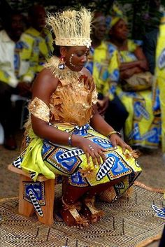 Bride at her traditional wedding in CongoBrazzaville ~