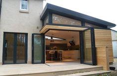 Ideas For Kitchen Loft Side Extension House Extension Design, Roof Extension, Bungalow Extensions, House Extensions, Bungalow Haus Design, House Design, High Windows, Bungalow Renovation, Dream House Plans