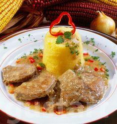 Lajos Mari konyhája - Rozsdás hús puliszkával Food And Drink, Beef, Chicken, Meat, Steak, Cubs