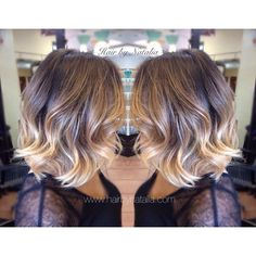 Balayage Ombré Sombre on short hair. Balayage Ombré Denver. #Balayage #ombre #Sombre #hair #hairlove #balayageColor #balayagecolormelt #denver #denverbalayage #balayageSpecialistDenver #ombrecolor...