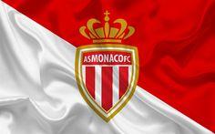 壁紙をダウンロードする としてのモナコのFC, フランス, サッカークラブ, モナコのエンブレム, ロゴ, ハ1, サッカー