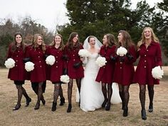 I so very much WANT this coat -Pantone's 2015 Color: 100 Marsala Wedding Ideas | HappyWedd.com