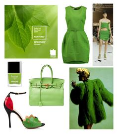 """Color of the year 2017: Greenery"" by elizaatudosie on Polyvore"